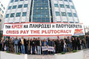 Igår vid gryningen blockerades börsen i Aten.