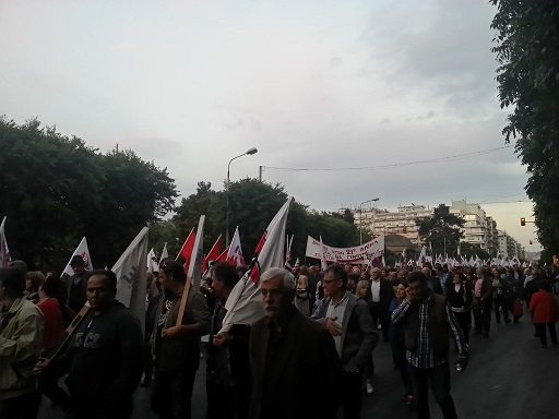 PAME:s demo i Thessalonki
