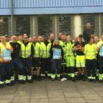 Göteborgs hamnarbetare backar vårdarbetarna.